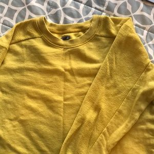 Mustard colored cropped sweatshirt
